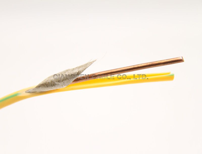 Single core non-sheathed with mica tape cable solid conductor fire resistance electric wires